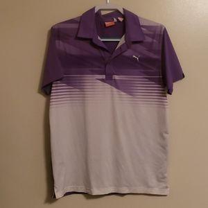 *Puma* Golf Polo ~ Purple/White ~ Size M